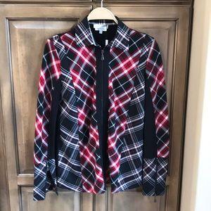 Anatomie Clothing plaid zip jacket